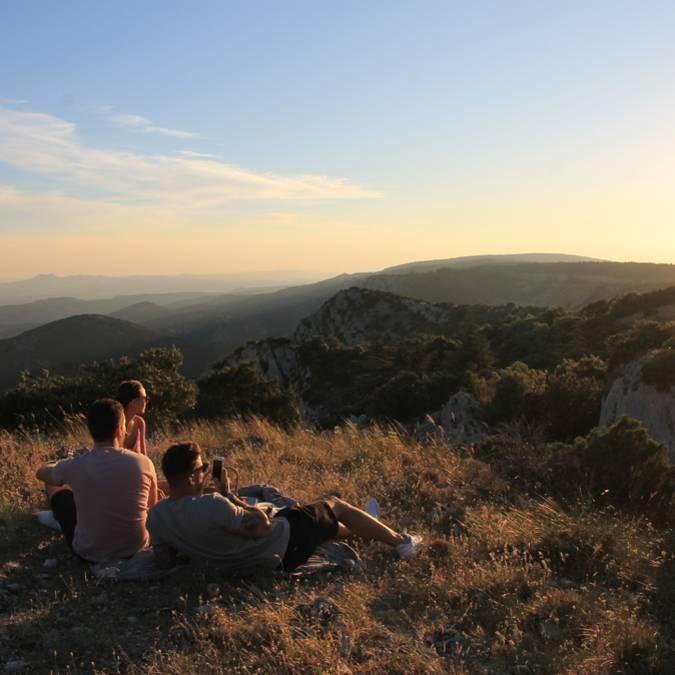 coucher de soleil près de Bonnieux - Forêt des Cèdres