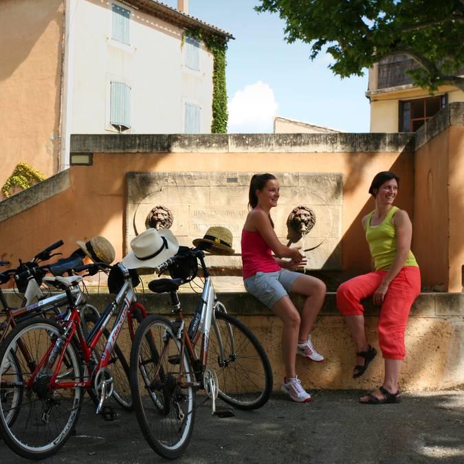 Vélo dans le Luberon
